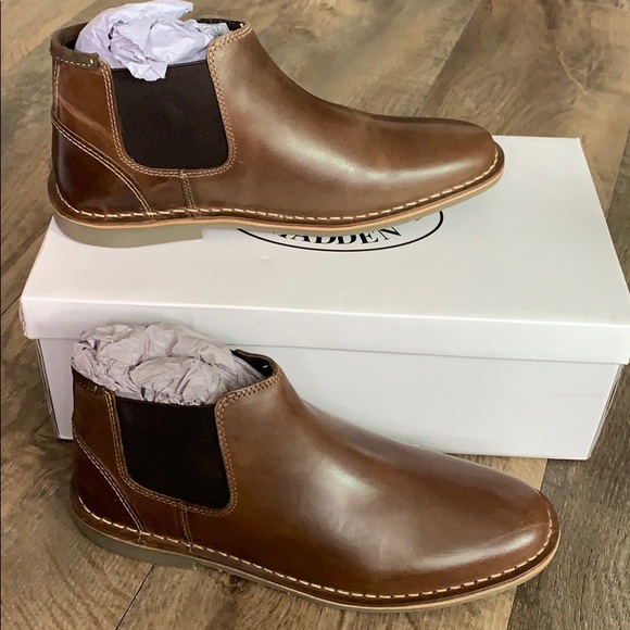 925af624a38 🎉Steve Madden Impass Chelsea Mid Boot Brown Sz 8M NWT